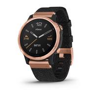 Спортивные часы Garmin Fenix 6S - Pro and Sapphire Editions - Rose Gold-tone with Heathered Black Nylon Band, North