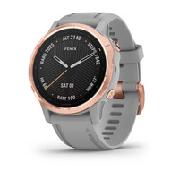 Спортивные часы Garmin Fenix 6S - Pro and Sapphire Editions - Rose Gold-tone with Powder Gray Band