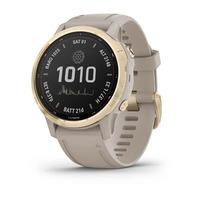 Спортивные часы Garmin Fenix 6S - Pro Solar Edition Light Gold with Light Sand Band