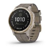 Спортивные часы Garmin Fenix 6S - Pro Solar Edition Light Gold with Shale Gray Suede Band