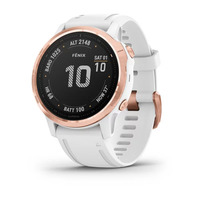 Спортивные часы Garmin Fenix 6S Pro - Rose Gold-tone with White Band