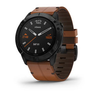 Спортивные часы Garmin Fenix 6X - Pro and Sapphire Editions - Black DLC with Chestnut Leather Band