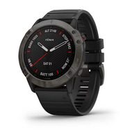 Спортивные часы Garmin Fenix 6X - Pro and Sapphire Editions - Carbon Gray DLC with Black Band