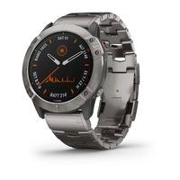 Спортивные часы Garmin Fenix 6X - Pro Solar Edition - Titanium with Vented Titanium Bracelet