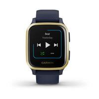 Спортивные часы Garmin Venu Sq Music Edition Light Gold Aluminum Bezel with Navy Case and Silicone Band
