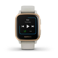 Спортивные часы Garmin Venu Sq Music Edition Rose Gold Aluminum Bezel with Light Sand Case and Silicone Band