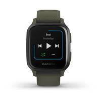 Спортивные часы Garmin Venu Sq Music Edition Slate Aluminum Bezel with Moss Case and Silicone Band