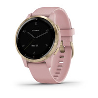 Спортивные часы Garmin vivoactive 4S Light Gold Stainless Steel Bezel with Dust Rose Case and Silicone Band