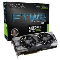 Видеокарта EVGA GeForce GTX 1080 FTW2 DT GAMING (08G-P4-6684-KR)