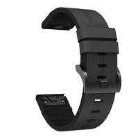 Кожаный ремешок для часов Garmin Fenix 3/5x/6x 26 Watch Bands Black Leather