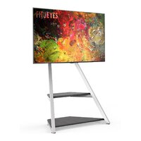 Кронштейн (подставка) для монитора, телевизора FITUEYES  Artistic Floor TV Stand Black for 43-75 Inch TVs Eiffel Series Modern TV Stand