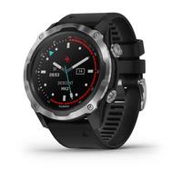 Мультиспортивные часы для дайвинга Garmin Descent Mk2 Stainless Steel with Black Band