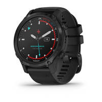Мультиспортивные часы для дайвинга Garmin Mk2S Carbon Gray DLC with Black Silicone Band