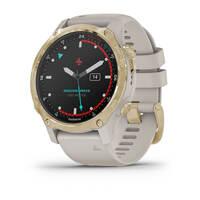 Мультиспортивные часы для дайвинга Garmin Mk2S Light Gold with Light Sand Silicone Band