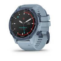 Мультиспортивные часы для дайвинга Garmin Mk2S Mineral Blue with Sea Foam Silicone Band