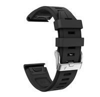 Ремешок 20мм для часов Garmin Fenix 6s Watch Bands Black Silicone
