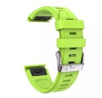Ремешок 20мм для часов Garmin Fenix 6s Watch Bands Green Silicone