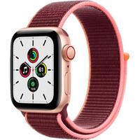 Смарт-часы Apple Watch SE GPS + Cellular 40mm Gold Aluminum Case with Plum Sport L. (MYEC2)