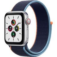 Смарт-часы Apple Watch SE GPS + Cellular 40mm Silver Aluminum Case with Deep Navy Sport L. (MYE92/MYEG2)