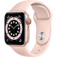 Смарт-часы Apple Watch Series 6 GPS + Cellular 40mm Gold Aluminum Case w. Pink Sand Sport B. (M02P3)
