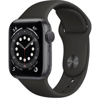 Смарт-часы Apple Watch Series 6 GPS 40mm Space Gray Aluminum Case w. Black Sport B. (MG133)