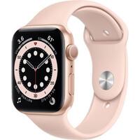 Смарт-часы Apple Watch Series 6 GPS 44mm Gold Aluminum Case w. Pink Sand Sport B. (M00E3)