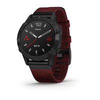 Спортивные часы Garmin Fenix 6 Pro Sapphire - Black DLC with Heathered Red Nylon Band