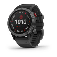 Спортивные часы Garmin Fenix 6 Pro Solar Edition Slate Gray with Black Band
