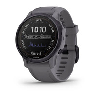 Спортивные часы Garmin Fenix 6S - Pro Solar Edition Amethyst Steel with Shale Gray Band