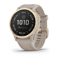 Спортивные часы Garmin Fenix 6S - Pro Solar Edition Light Gold with Light Sand Band