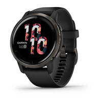 Спортивные часы Garmin Venu 2 Slate Stainless Steel Bezel with Black Case and Silicone Band