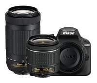 Зеркальный фотоаппарат Nikon D3400 AF-P DX NIKKOR 18-55MM F/3.5-5.6G VR AF-P DX NIKKOR 70-300MM F/4.5-6.3G ED Lens Black